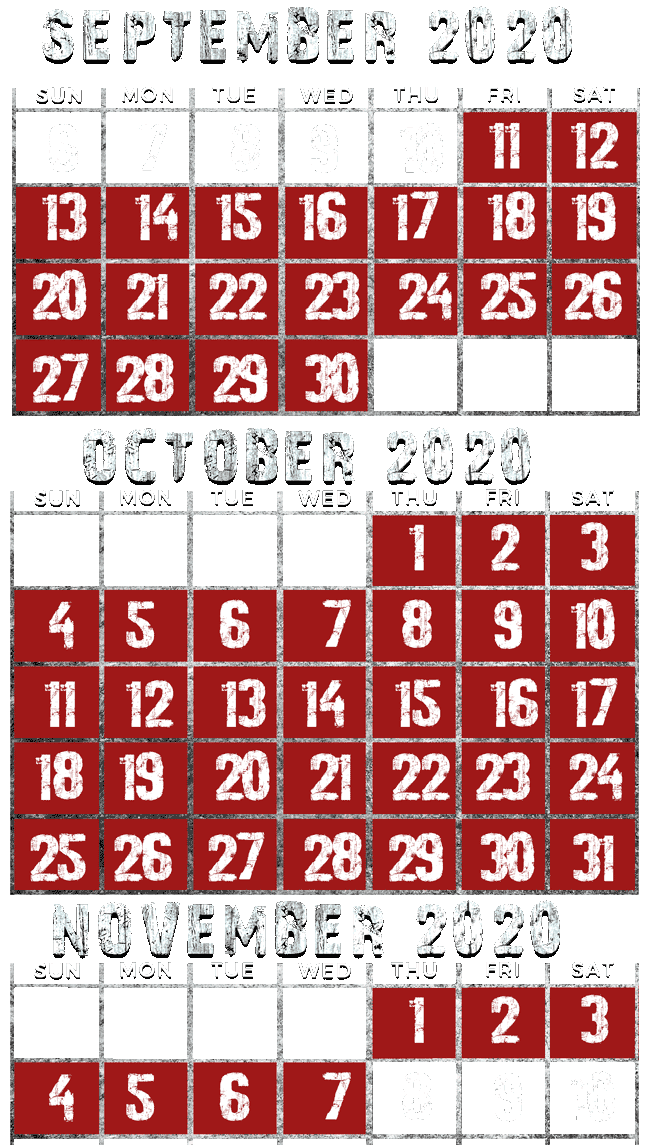 2020 Dates and Hours